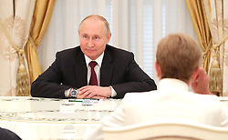 May 23, 2019 - Moscow, Russia - May 23, 2019. - Russia, Moscow. - Russian President Vladimir Putin during a meeting with former heads of Russia's regions at the Moscow Kremlin. (Credit Image: © Russian Look via ZUMA Wire)