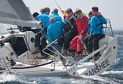 Pelle P Kip Regatta 2017 run by Royal Western Yacht Club at Kip Marina on the Clyde. <br /> <br /> Banshee, Charlie Frize, CCC, Corby 33.<br /> <br /> Image Credit Marc Turner