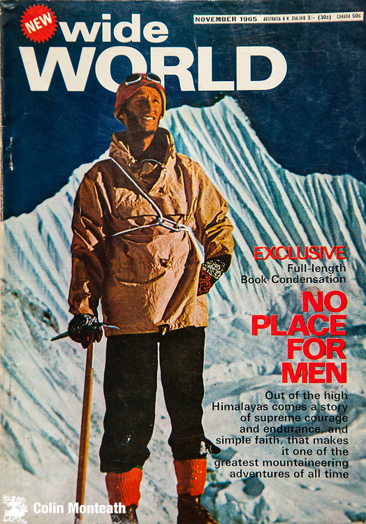 Peter Mulgrew, New Zealand Himalayan climber and Antarctica co-worker alongside Sir Edmund Hillary during 1955-57 Transantarctic Expedition - Mulgrew's book on Silver Hut expedition attempt on Makalu called No Place for Men.