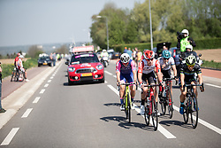 Danique Braam (NED) of Lotto Soudal Cycling Team leads the breakaway during the Amstel Gold Race - Ladies Edition - a 126.8 km road race, between Maastricht and Valkenburg on April 21, 2019, in Limburg, Netherlands. (Photo by Balint Hamvas/Velofocus.com)