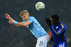 19th December 2017 - Carabao Cup (Quarter Final) - Leicester City v Manchester City - Oleksandr Zinchenko of Man City battles with Daniel Amartey of Leicester - Photo: Simon Stacpoole / Offside.