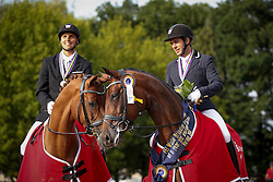Jurado Lopez Severo Jesus, (ESP), Fiontini, Helgstrand Andreas, (DEN), Fiontina<br /> Final 5 years old horses<br /> World Championship Young Dressage Horses - Verden 2015<br /> © Hippo Foto - Stefan Lafrentz<br /> 08/08/15