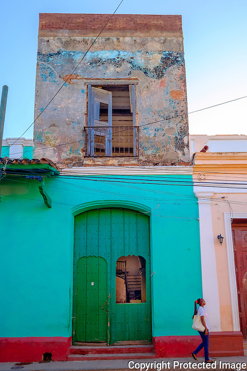 Trinidad, Cuba, Street Scenes, early morning, mid day, night time,