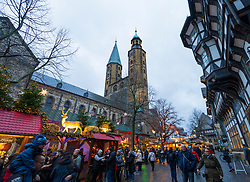 Traditional stall at Goslar Christmas Market in Lower Saxony, Germany