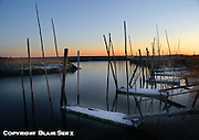 Newport, Delaware Bay Estuary, South Jersey, Winter, Boat Launch, Sunset