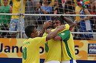 Footbal-FIFA Beach Soccer World Cup 2006 -  Semi Final- BRA xPOR -Bruno celebrates the goal  -Rio de Janeiro- Brazil - 11/11/2006.<br />Mandatory Credit: FIFA/Ricardo Ayres