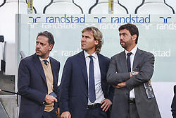 October 20, 2018 - Turin, Italy - Juventus president Andrea Agnelli, Juventus vice president Pavel Nedved and Fabio Paratici before the Serie A football match n.9 JUVENTUS - GENOA on 20/10/2018 at the Allianz Stadium in Turin, Italy. (Credit Image: © Matteo Bottanelli/NurPhoto via ZUMA Press)