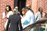 New York, NY- July 23: Gwen Carr, mother of Eric Garner, arrives at the funeral of Eric Garner, who fell victim to tactics of the NYPD and later died after NYPD Officers rendered him in a chokehold on July 20, 2014 in Staten Island. His funeral was held on July 23, 2014 at Bethel Baptist Church in New York City.  (Terrence Jennings)