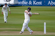 Steven Croft hits the ball for four runs during the LV County Championship Div 2 match between Gloucestershire County Cricket Club and Lancashire County Cricket Club at the Bristol County Ground, Bristol, United Kingdom on 7 June 2015. Photo by Alan Franklin.