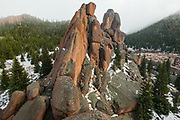 Granite rock spires in McMurdy Park, Lost Creek Wilderness, Colorado.