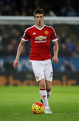 Paddy McNair of Manchester United in action  - Mandatory byline: Jack Phillips/JMP - 07966386802 - 28/11/2015 - SPORT - FOOTBALL - Leicester - King Power Stadium - Leicester City v Manchester United - Barclays Premier League