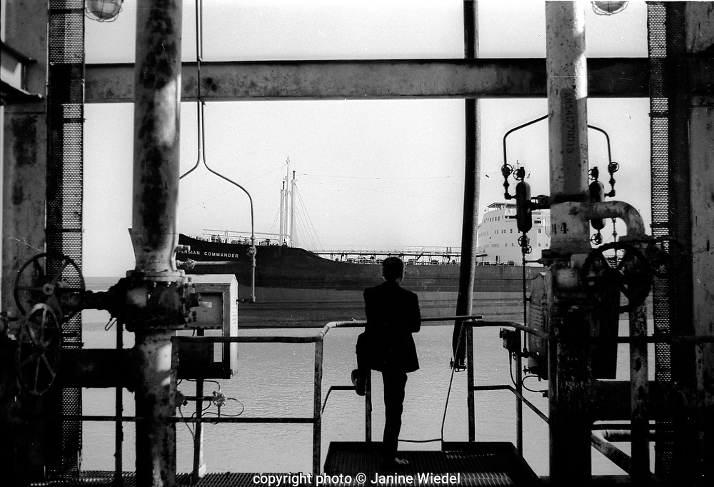 The Abadan Refinery located in Abadan Iran  was originaly built by the Anglo-Iranian Oil company in 1912.   Iran 1970s