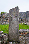 Broken Celtic Cross, Na Seacht Tempaill, The Seven Churches, Inishmore, Aran Islands