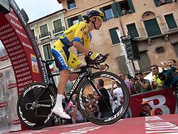 30.05.2014, Bassano di Grappa, ITA, Giro d Italia 2014, 19. Etappe, Bassano di Grappa nach Cima Grappa, im Bild Rafal Majka, POL (#203, Tinkoff- Saxo) // Rafal Majka, POL (#203, Tinkoff- Saxo) during Giro d' Italia 2014 at Stage 19 from Bassano di Grappa to Cima Grappa, Italy on 2014/05/30. EXPA Pictures © 2014, PhotoCredit: EXPA/ R. Eisenbauer