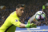 Everton Goalkeeper Joel Robles catches the ball. Premier league match, Everton v Hull city at Goodison Park in Liverpool, Merseyside on Saturday 18th March 2017.<br /> pic by Chris Stading, Andrew Orchard sports photography.