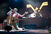 Weezer performing at The Bamboozle in East Rutherford, New Jersey on May 2, 2010.