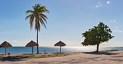 Scenic view of Playa Ancon beach, Trinidad, Cuba