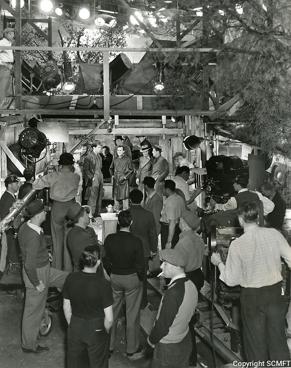 1938 Filming the movie Cocoanut Grove at Paramount Studios