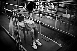 Yin Xue, 9, practices walking with her prothetic leg at the Sichuan Limbs Maim Restoration Centre in Chengdu, Sichuan in China.