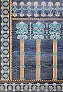 Decoration of The tiled Ishtar Gate of Babylon (Iraq) Pergamon Museum, Berlin, Germany,