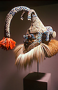 CHICAGO, MUSEUMS, ART INSTITUTE African Art: Mask of mythic royal ancestor from Kasi area in Zaire from late 19th C