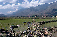 Bicycle along the road in Binh Lu, close from Sapa, Vietnam, Asia
