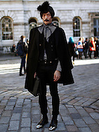 epa03590662 (02/26) Japanese fashion journalist Yu Masui poses for photographs at Somerset House during London Fashion Week Fall/Winter 2013 in London, Britain, 15 February 2013. The fashion week runs from 15 to 19 February. Flying from New York before travelling to Milan, the fashion industry makes a stop in London to present its Fall/Winter 2013 collections. Over five days models, designers, buyers, bloggers, photographers, makeup artists, hair dressers, celebrities and hipsters congregate at Somerset House for a celebration of cutting edge style. Style is not only reserved to the catwalk. Guests also compete in creativity, often going to extreme lengths to be the coolest cat in town. And London certainly has its fair share of cool cats.
