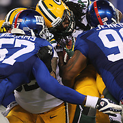 Eddie Lacy, Green Bay Packers, goes in for a touchdown  during the New York Giants Vs Green Bay Packers, NFL American Football match at MetLife Stadium, East Rutherford, New Jersey, USA. 17th November 2013. Photo Tim Clayton