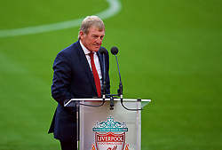 LIVERPOOL, ENGLAND - Friday, October 13, 2017: Former Liverpool player and manager and current non-executive director Kenny Dalglish gives a speech as the club's Centenary Stand is renamed the Kenny Dalglish Stand. (Pic by David Rawcliffe/Propaganda)