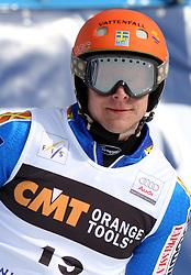 Johan Brolenius at 9th men's slalom race of Audi FIS Ski World Cup, Pokal Vitranc,  in Podkoren, Kranjska Gora, Slovenia, on March 1, 2009. (Photo by Vid Ponikvar / Sportida)