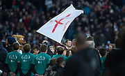 """Twickenham, United Kingdom. """"RAZA MA TAZZ """" at the entrance to the Tunnel as the player's emerge the Old Mutual Wealth Series Rest Match: England vs Australia, at the RFU Stadium, Twickenham, England, <br /> <br /> Saturday  03/12/2016<br /> <br /> [Mandatory Credit; Peter Spurrier/Intersport-images]"""