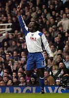 Photo: Olly Greenwood.<br />West Ham United v Portsmouth. The Barclays Premiership. 26/12/2006. Portsmouth's Linvoy Primus celebrates scoring