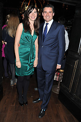 LAURA LOPES and EDWARD TAYLOR at the launch of the Johnnie Walker Blue Label Club held at The Scotch, Mason's Yard, London on 1st May 2012.