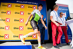 May 20, 2018 - Lillehammer, NORWAY - 180520 Edvald Boasson Hagen of Norway during the award ceremony after the last stage of the Tour of Norway on May 20, 2018 in Lillehammer..Photo: Jon Olav Nesvold / BILDBYRÃ…N / kod JE / 160254 (Credit Image: © Jon Olav Nesvold/Bildbyran via ZUMA Press)