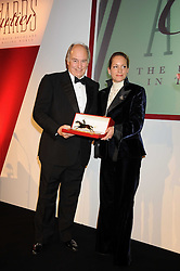 HRH The AGA KHAN and his daughter PRINCESS ZAHRA AGA KHAN at the annual Cartier Racing Awards held at the Grosvenor House Hotel, Park Lane, London on 17th November 2008.