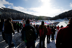 Spectators during the Men 10 km Sprint of the e.on IBU Biathlon World Cup on Saturday, December 18, 2010 in Pokljuka, Slovenia. The fourth e.on IBU World Cup stage is taking place in Rudno polje - Pokljuka, Slovenia until Sunday December 19, 2010. (Photo By Vid Ponikvar / Sportida.com)