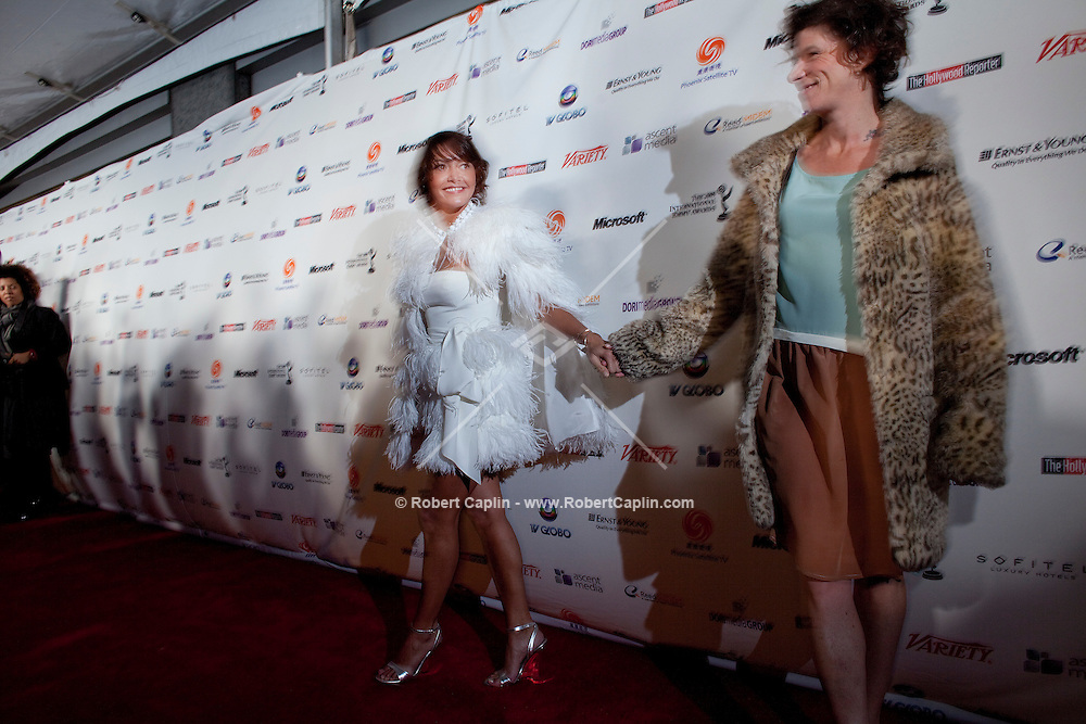 Emma de Caunes (France) walks the red carpet upon arriving at the 37th International Emmy Awards Gala in New York on Monday, November 23, 2009.  ***EXCLUSIVE***