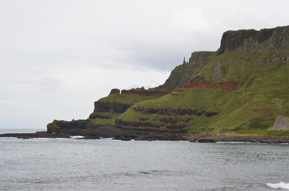 The cliffs at the far end of the Giant's Causeway, County Antrim, Northern Ireland.