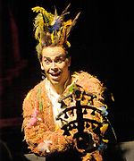 Miami, FL -- Feb. 09, 2005 -- Florida Grand Opera production of The Magic Flute by Wolfgang Amadeus Mozart. Aaron St. Clair Nicholson in the role of Papageno the Bird Catcher. The Magic Flute (Die Zauberflöte) is the product of a unique collaboration between the actor-manager Emanuel Schikaneder, who commissioned it in 1791, and Mozart. (Photo by Gaston De Cardenas/El Nuevo Herald)