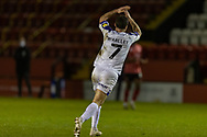 GOAL - 0-1 Shrewsbury Town Midfielder Shaun Whalley celebrates scoring during the EFL Sky Bet League 1 match between Lincoln City and Shrewsbury Town at Sincil Bank, Lincoln, United Kingdom on 15 December 2020.