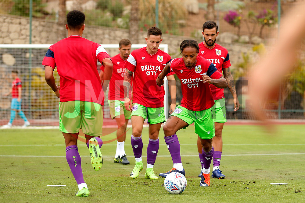 Bobby Reid of Bristol City - Mandatory by-line: Matt McNulty/JMP - 22/07/2017 - FOOTBALL - Tenerife Top Training - Costa Adeje, Tenerife - Bristol City v Atletico Union Guimar  - Pre-Season Friendly