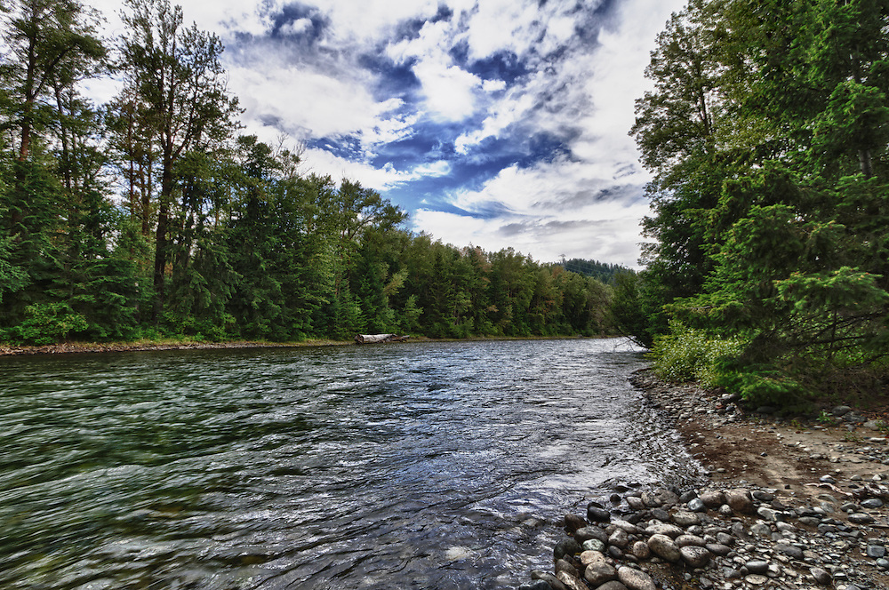 The Cle Elum near Snoqualmie National Forest in Washington, about 80 miles east of Seattle.  HDR image comprised of three frames (+/-2 2/3 and 0 EV); processed using Lightroom 3 and HDR Efx Pro.