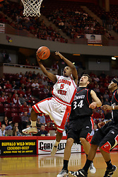 "08 December 2007: Keith ""Boo"" Richardson drives the line, bearcats in tow, for a lay up. The Cincinnati Bearcats take a loose against the Illinois State Redbirds 62-52 on Doug Collins Court in Redbird Arena on the campus of Illinois State University in Normal Illinois."