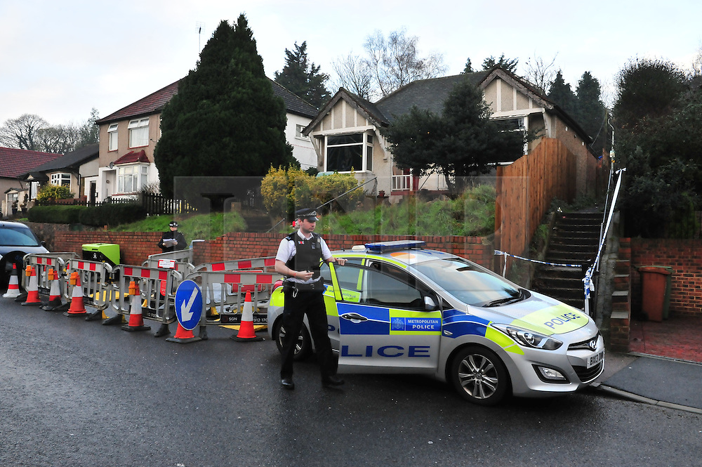 © Licensed to London News Pictures. 06/01/2016<br /> Ex-Eastenders actress Sian Blake's home in Erith,Kent has turned into a crime scene (06.01.2016) with officers from the Met's Homicide and Major Crime Command leading the murder investigation.<br /> <br /> (Byline:Grant Falvey/LNP)