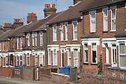 Victorian terraced housing, Ipswich, Suffolk, England
