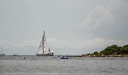 THEMENBILD - URLAUB IN KROATIEN, ein Segelschiff vor einer Insel, aufgenommen am 02.07.2014 in Vrsar, Kroatien // a sailing boat in front of an island in Vrsar, Croatia on 2014/07/02. EXPA Pictures © 2014, PhotoCredit: EXPA/ JFK