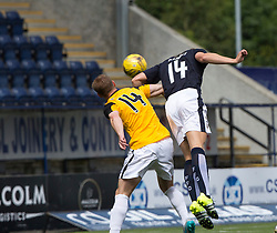 Falkirk's Peter Grant scoring their goal. Half time : Falkirk 1 v 1 East Fife, Petrofac Training Cup played 25th July 2015 at The Falkirk Stadium.