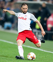 03.05.2018, Red Bull Arena, Salzburg, AUT, UEFA EL, FC Salzburg vs Olympique Marseille, Halbfinale, Rueckspiel, im Bild Andreas Ulmer (FC Salzburg)// during the UEFA Europa League Semifinal, 2nd Leg Match between FC Salzburg and Olympique Marseille at the Red Bull Arena in Salzburg, Austria on 2018/05/03. EXPA Pictures © 2018, PhotoCredit: EXPA/ Roland Hackl