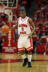 """24 February 2008: Keith """"Boo"""" Richardsaon In an ESPN Bracket Buster game, the Wright State Raiders were defeated 54-46 by the Illinois State University Redbirds on Doug Collins Court inside Redbird Arena in Normal Illinois."""