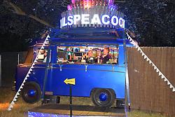 Latitude Festival, Henham Park, Suffolk, UK July 2018. Cocktail bar at night